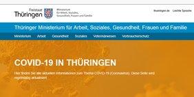 Informationen zu Corona in Thüringen