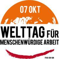 Logo world day for decent work 2012