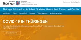 Infos vom Thüringer Ministerium für Arbeit, Soziales, Gesundheit, Frauen und Familie