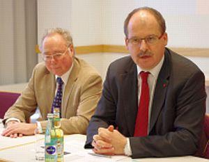 Walter Spieß, ddb Hessen und Stefan Körzell, DGB Hesssen-Thüringen