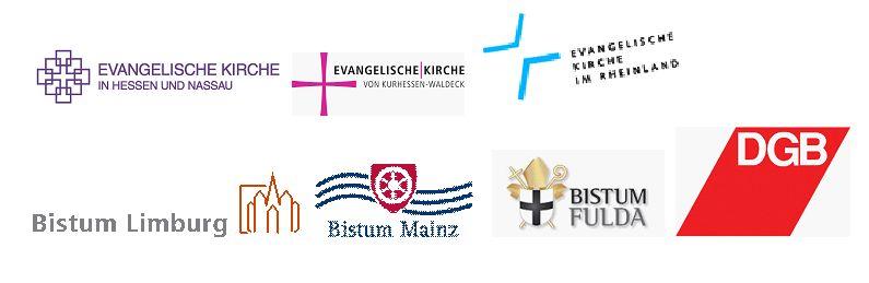 Logos Kirchen und DGB