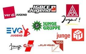 Logos Gewerkschaften Jugend