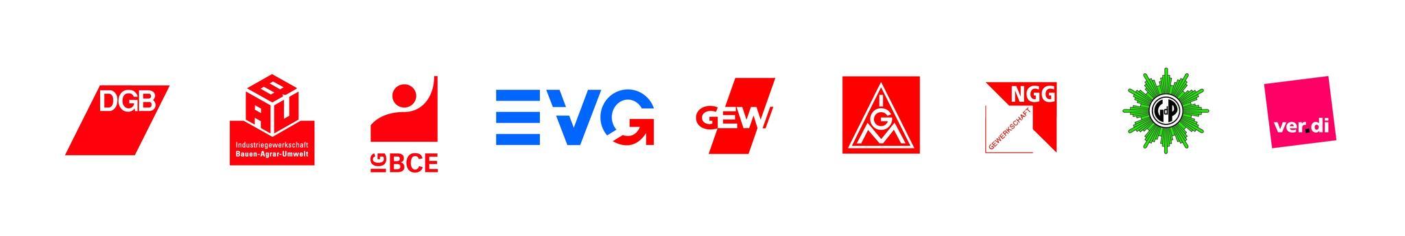 Logoleiste Gewerkschaften