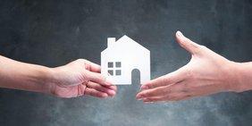 Hände Privatisierung Haus Verkauf