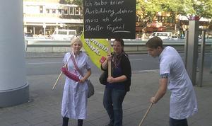 Protest zum Ausbildungsstart
