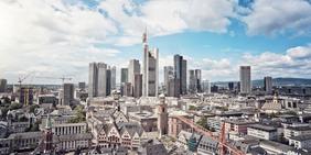 Stadtansicht auf Frankfurt