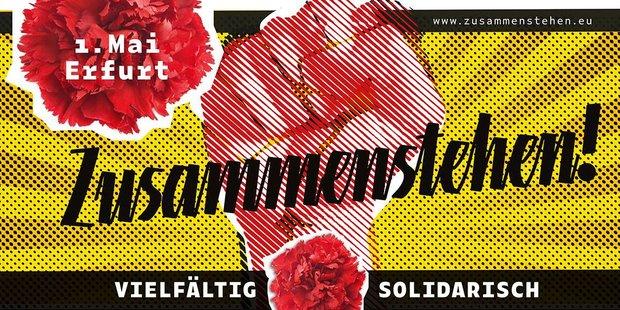 Teaser Flyer Zusammenstehen Erfurt