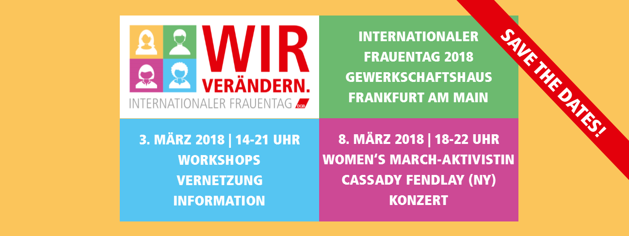 8. März in Frankfurt am Main