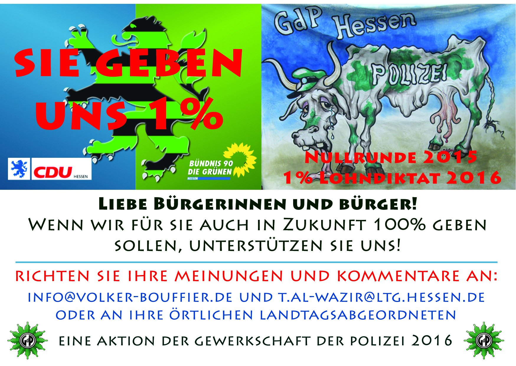 Postkarte Beamtenbesoldung GdP
