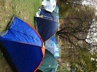 60 Zelte stehen vor der EZB