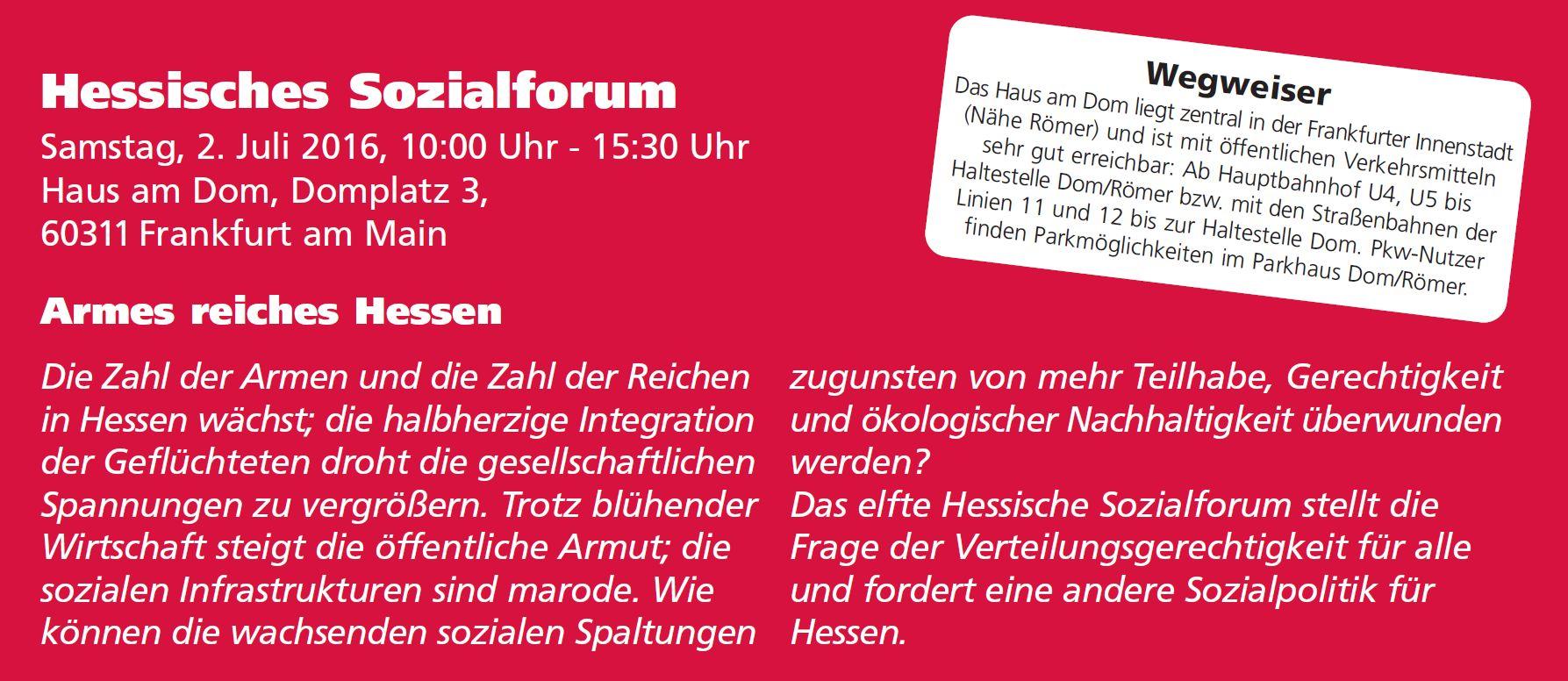 11. Hessisches Sozialforum