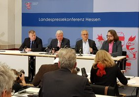 Pressekonferenz Schwarz-Grün Koalitionsvertrag