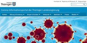 Link zur Corona-Bürgerhotline Thüringen und zum Live-Blog
