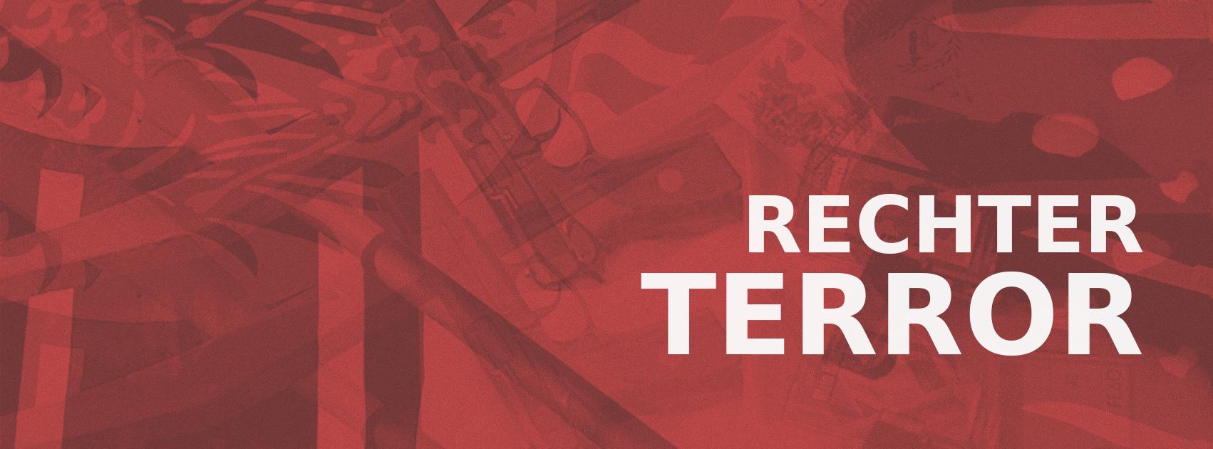 Schriftzug Rechter Terror