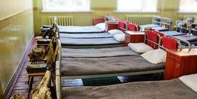 Schlafsaal mit vielen Betten