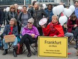 Bilder der Aktion in Frankfurt